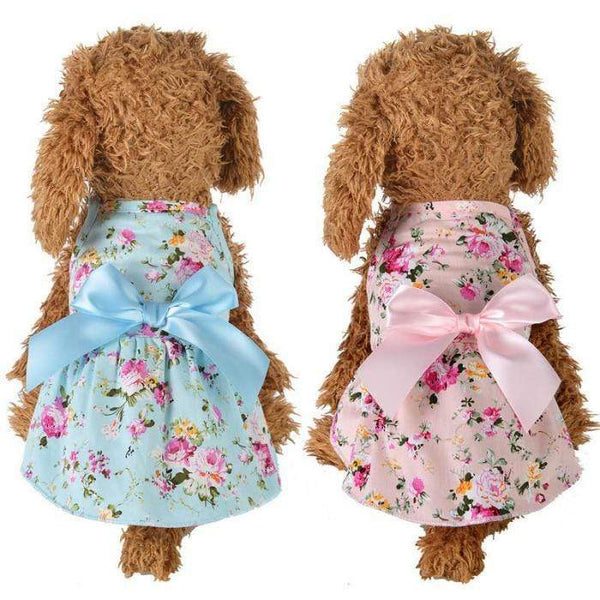 Cute Dog Summer Printed Streamer Princess Dress - Max and Maci's Store