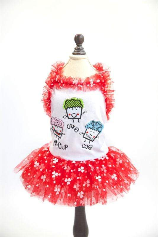 Lovely Cake Print Lace Dog Tutu Dress - Max and Maci's Store