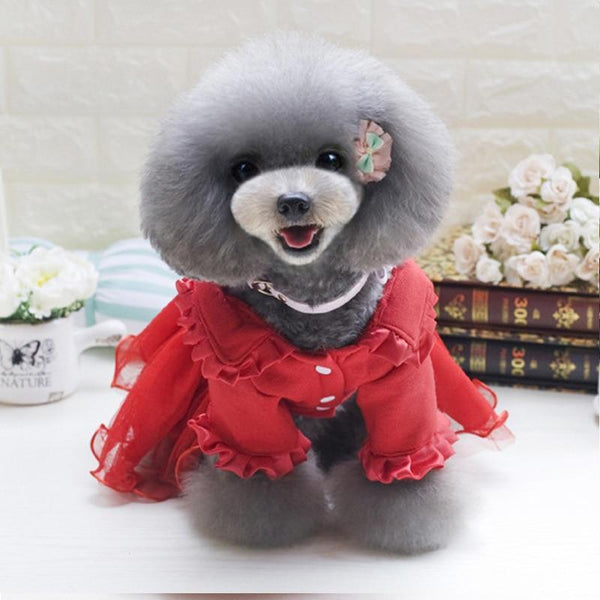 New Fashion Dog Solid Skirt Flower Decoration - Max and Maci's Store