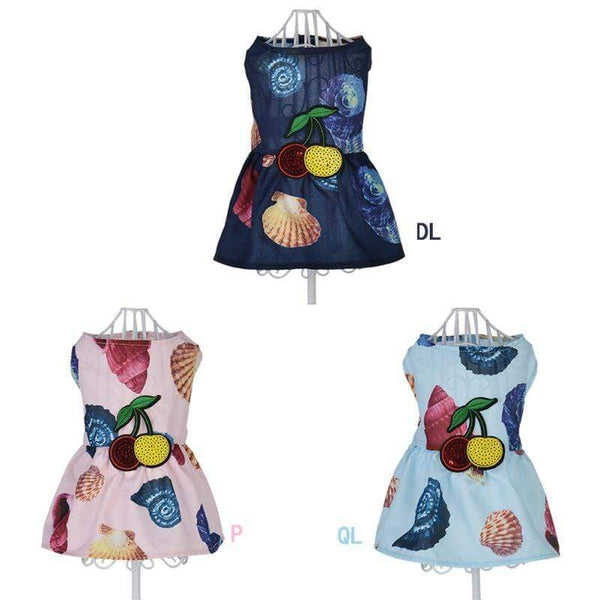 Summer Beach Shell Dog Clothes - Max and Maci's Store