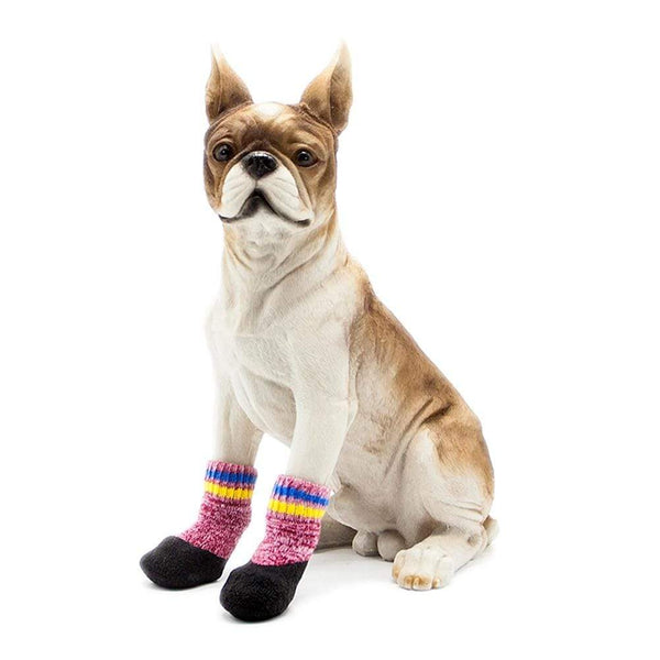 2 Pair Terry Padded Warm Waterproof Dog Socks - Max and Maci's Store