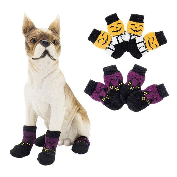 Anti-Slip Sole Dog Waterproof Pumpkin Socks - Max and Maci's Store