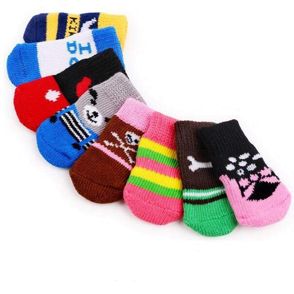 Colorful Dog Soft Cotton Anti-Slip Knit Socks - Max and Maci's Store