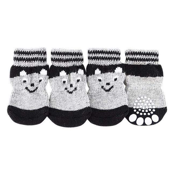 Heart-Shaped  Bow-Knot Picture 4 Pcs/Set Dogs Socks - Max and Maci's Store