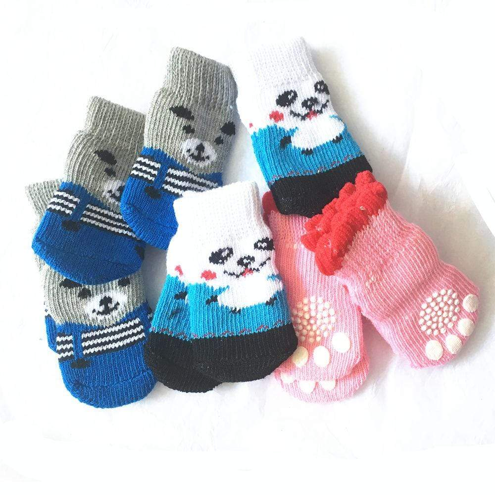 Max and Maci's Store Dog Socks indoor Dogs Soft Cotton Anti-slip Knit Weave Warm Sock