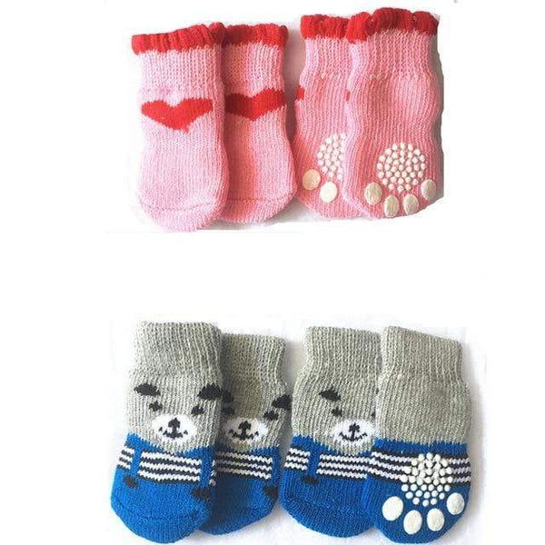 Indoor Dogs Soft Cotton Anti-Slip Knit Weave Warm Sock - Max and Maci's Store