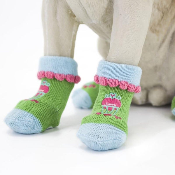Non-Skid Knitted Cotton Socks For Small Medium Dogs - Max and Maci's Store