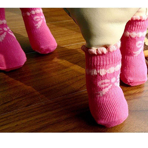 Outdoor Waterproof Pink Color Dog Socks - Max and Maci's Store