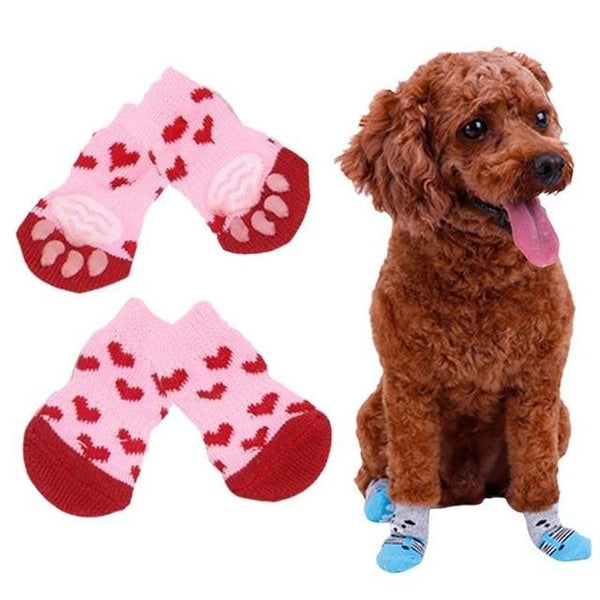 Cute Dogs Anti Slip Skid Bottom Knits Socks - Max and Maci's Store