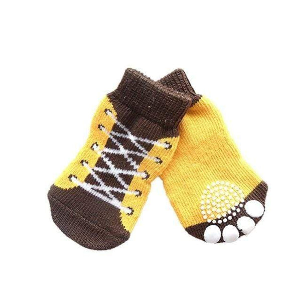 Soft Knit 4 Pcs Anti Slip Pet Warm Sock - Max and Maci's Store