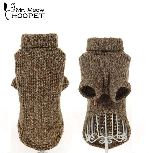 Dog Clothes Warm Wind Retro Colors Loose Sweaters - Max and Maci's Store