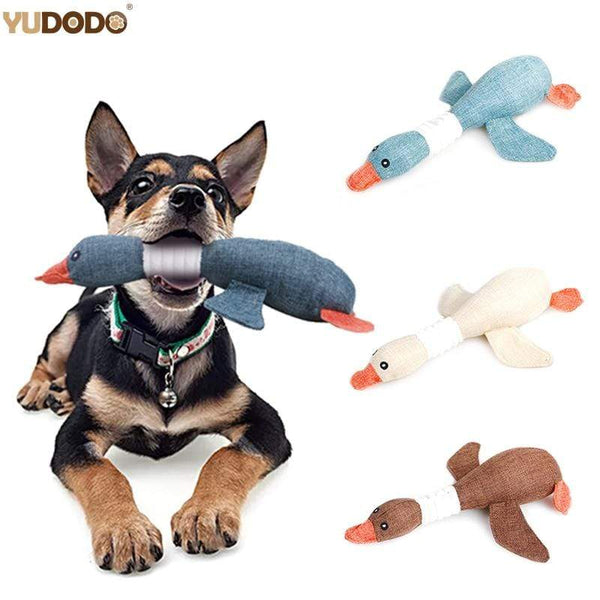 Cartoon Wild Goose Plush Dog Toys - Max and Maci's Store