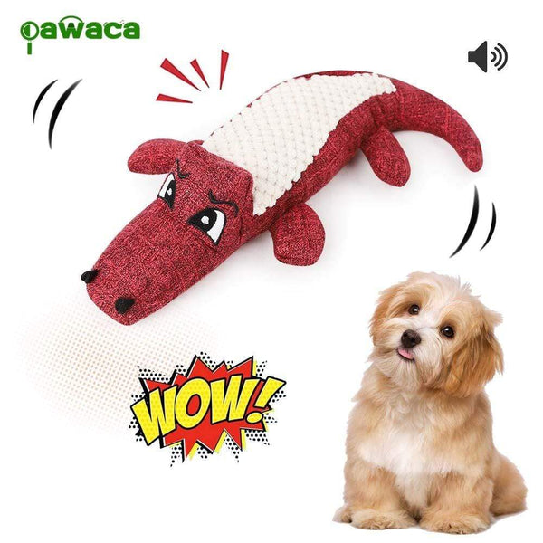 Chew Chirping And Vocal Crocodile Toy For Dogs - Max and Maci's Store