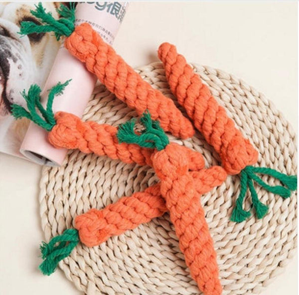 Cute Adorable Carrot Shape Dog Chew Toys - Max and Maci's Store