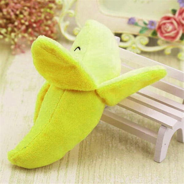 Transer Pet 1Pc Plush Banana Shape Dog Toys - Max and Maci's Store