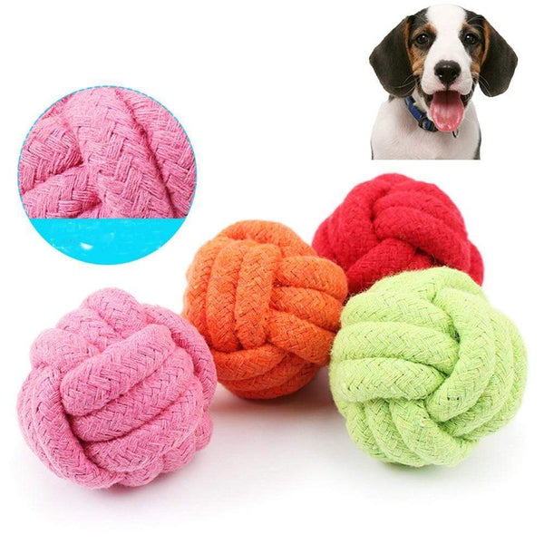Dog Toys Pets Rope Ball - Max and Maci's Store