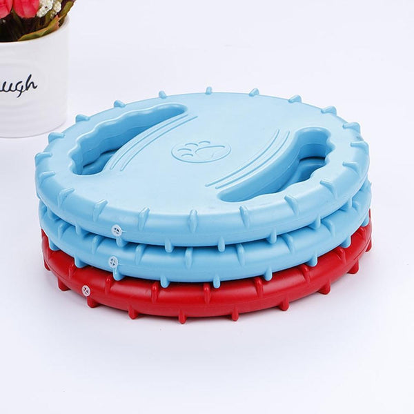 Flying Disc Squeaky Rubber Dog Toys - Max and Maci's Store