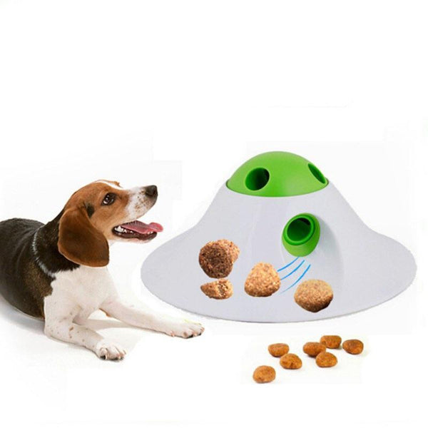 Flying Saucer Dispenser Activity Dog Toy - Max and Maci's Store
