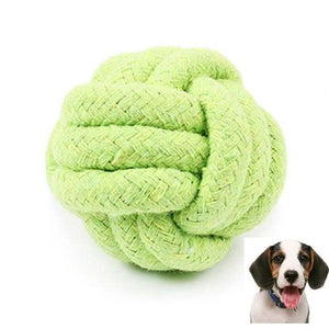 Max and Maci's Store Dog Toys Green / M Pets Rope Ball Toy