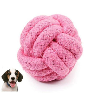 Max and Maci's Store Dog Toys Pink / M Pets Rope Ball Toy