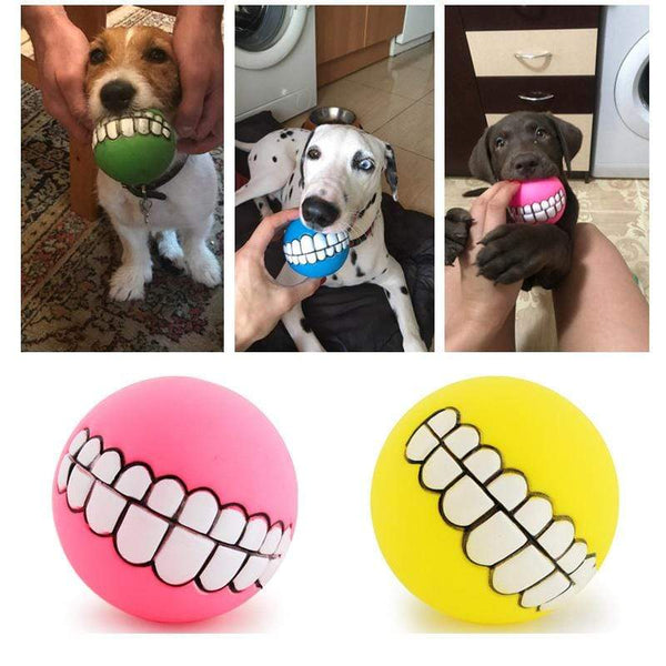 Puppy Teeth Ball Pvc Chew Sound Dogs Toys - Max and Maci's Store