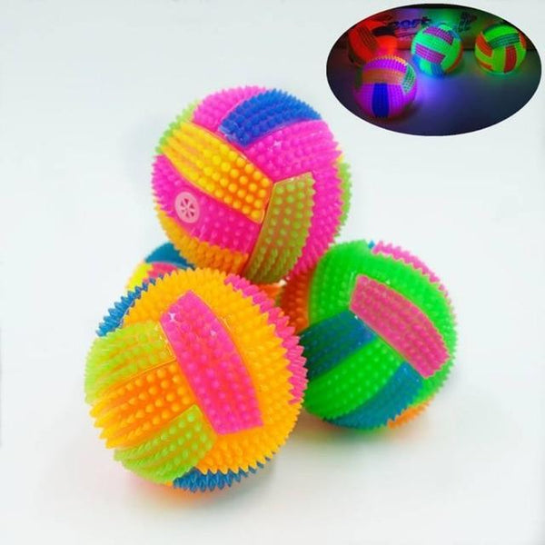 Football Shape Light Sound Bouncy Ball - Max and Maci's Store