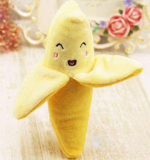 Max and Maci's Store Dog Toys Random / M Cute Fruits Banana Design Toys