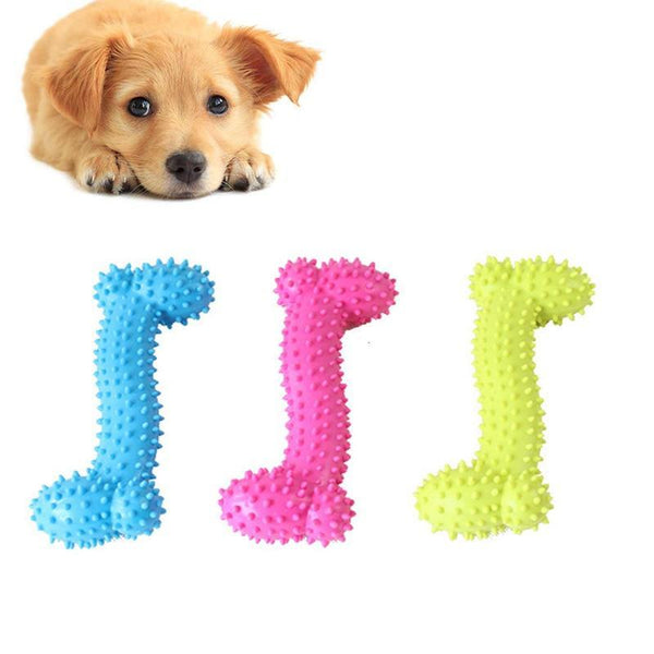 Rubber Bone Shape Sound Pet Toy - Max and Maci's Store