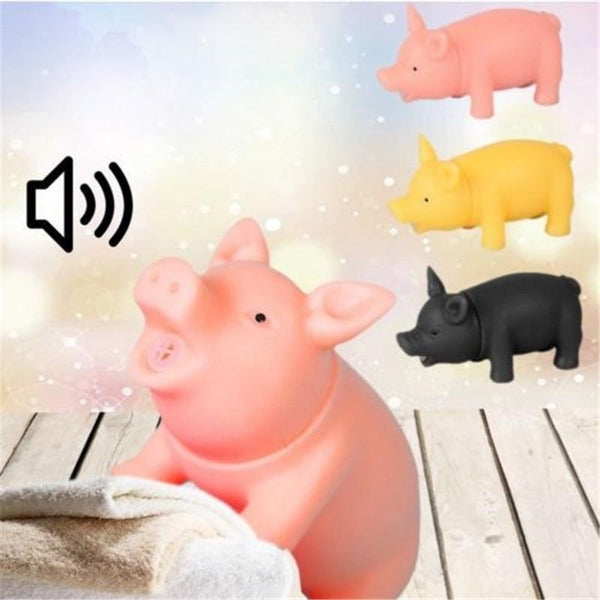 Squeaker Squeaky Rubber Sound Pig Chew Dog Toys - Max and Maci's Store