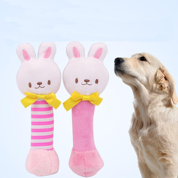 Max and Maci's Store Dog Toys Squeaky Animals Rabbit Plush Dog Toys