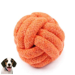 Max and Maci's Store Dog Toys Yellow / M Pets Rope Ball Toy
