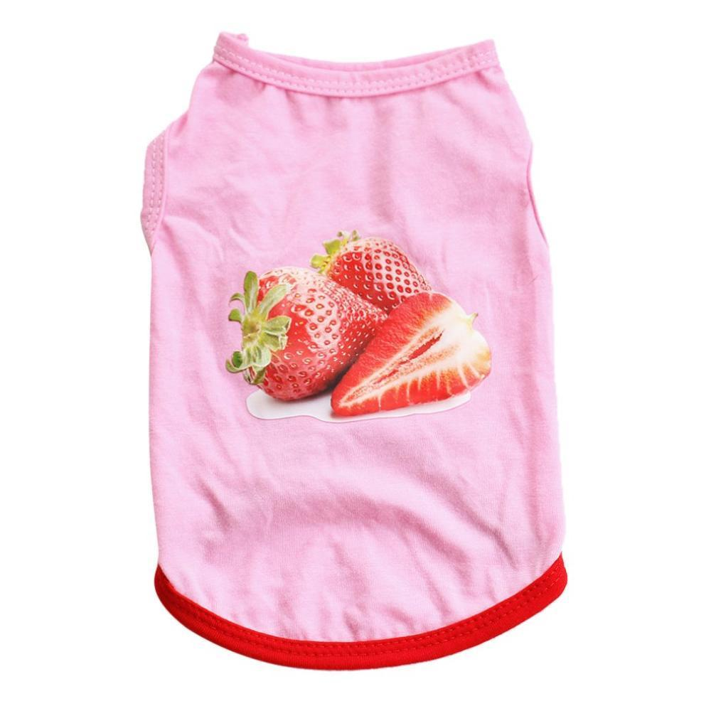 Max and Maci's Store Dog Vests Brilliant Strawberry Variety Size Casual Dog Vest