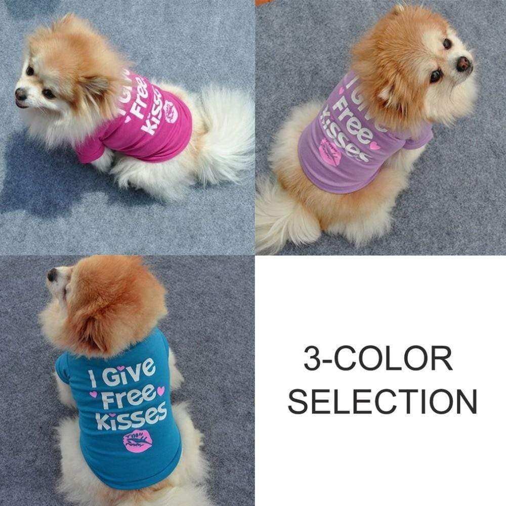 Max and Maci's Store Dog Vests Dog Printing Letters Short Sleeve Soft Comfortable Cotton T-Shirts