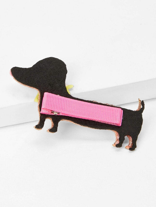 Girls Dog Shaped Glitter Hair Clip - Max and Maci's Store