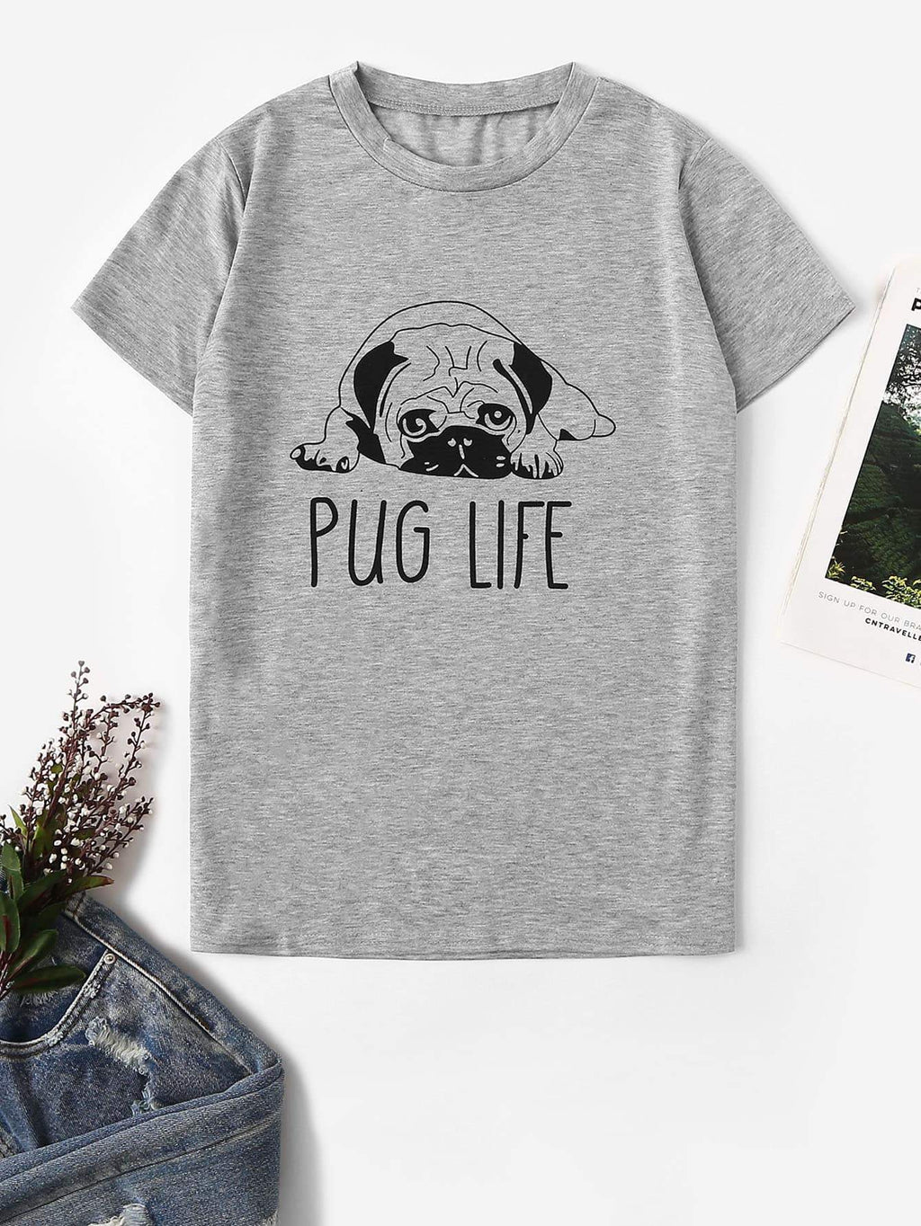 Max and Maci's Store Men - Apparel - Shirts - T-Shirts S Livin the Pug Life