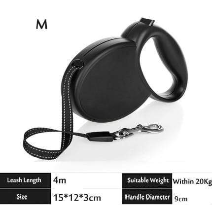 Quality Leather Retractable Dog Leash - Max and Maci's Store