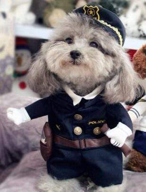 Max and Maci's Store Pet supplies Cool  Policeman / S Funny Dog Costumes