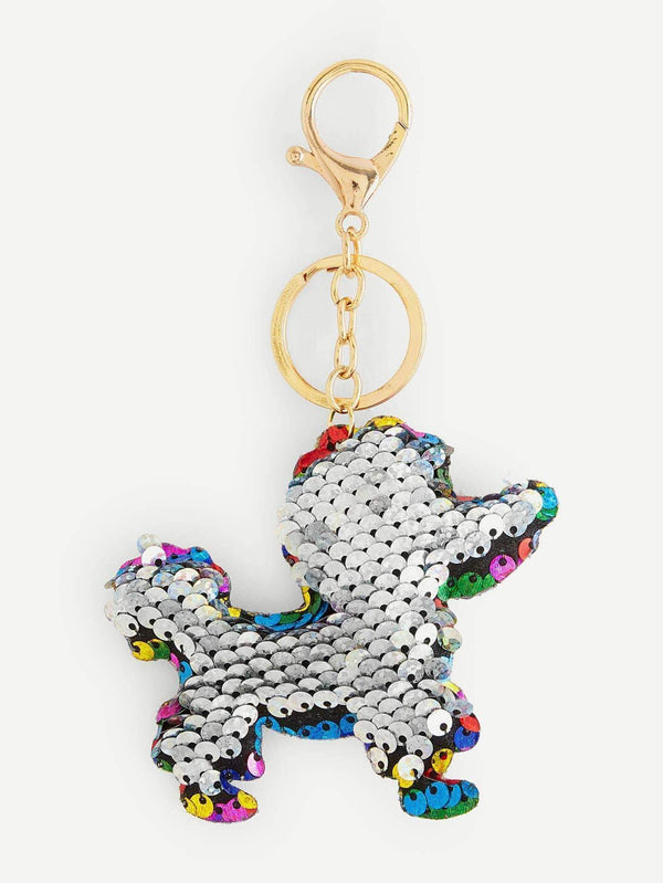 Sequin Dog Design Keychain - Max and Maci's Store