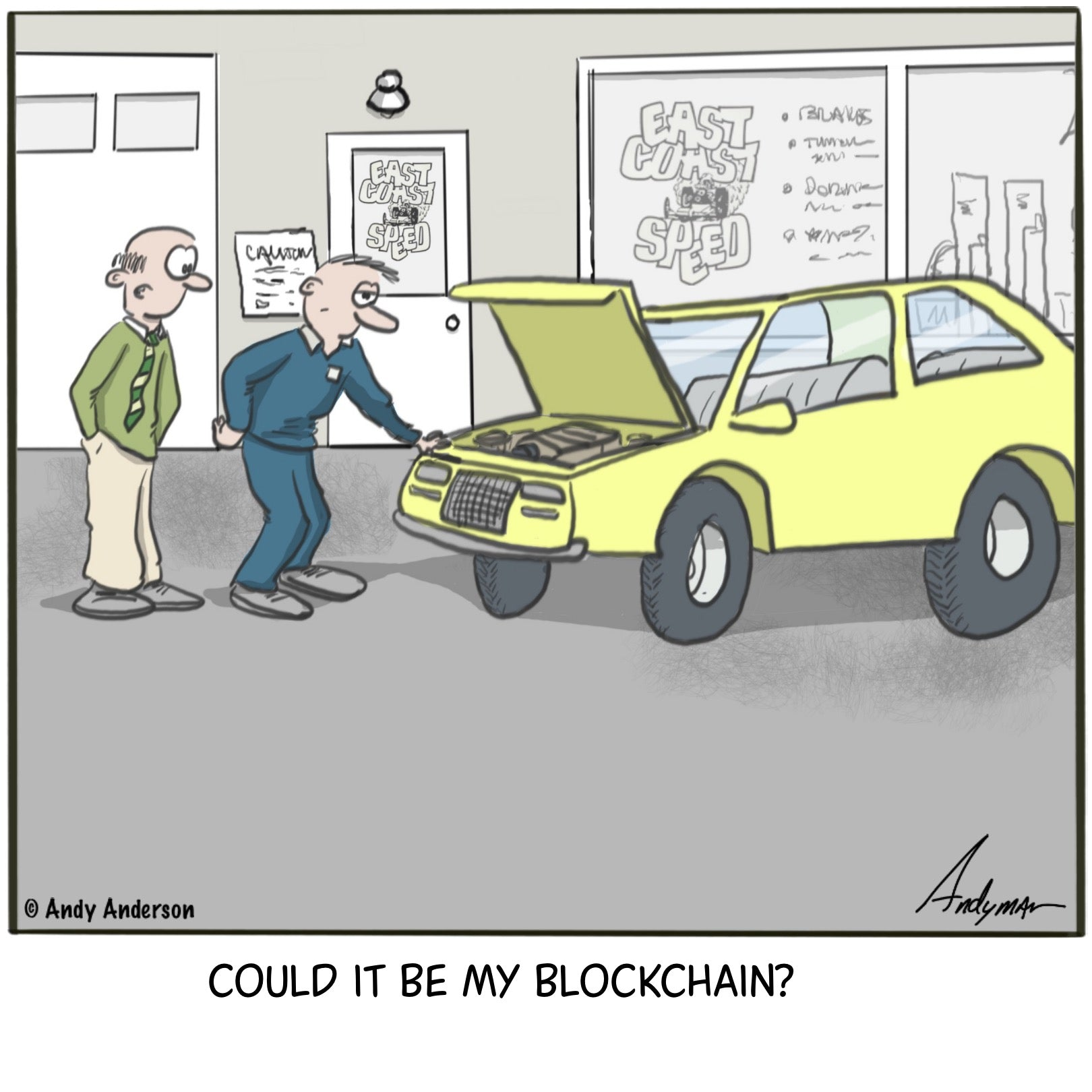 Could it be my blockchain cartoon by Andy Anderson