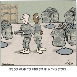 Hard to find help in this store cartoon by Andy Anderson