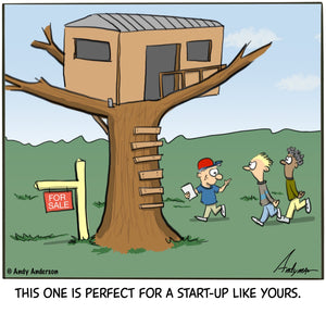 Tree house realtor cartoon by Andy Anderson