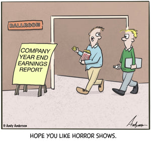Presentation horror show cartoon by Andy Anderson