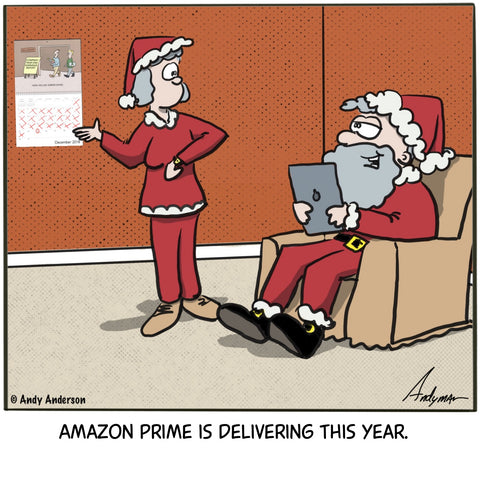Amazon Prime is delivering cartoon by Andy Anderson