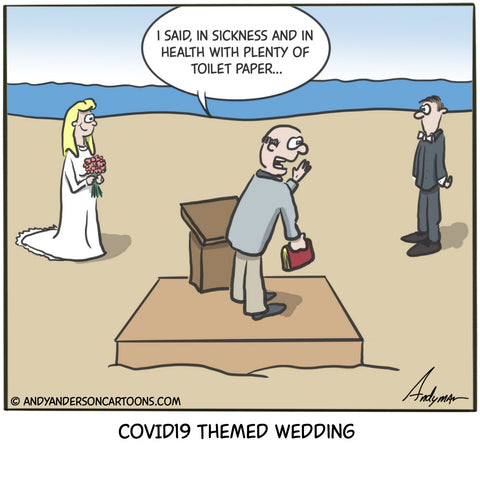 Cartoon about getting married during COVID19 crisis