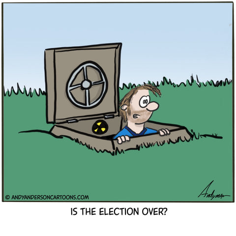 Is the election over cartoon