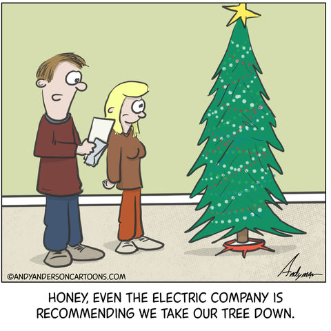 Cartoon about still having Christmas tree up