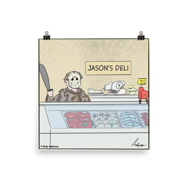 Jason's Deli cartoon print