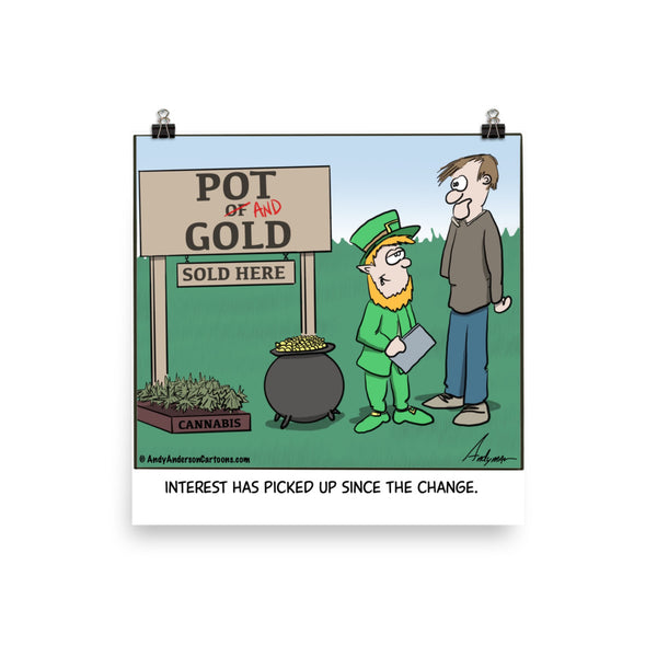 Pot and Gold cartoon print