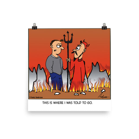 Go to Hell cartoon by Andy Anderson