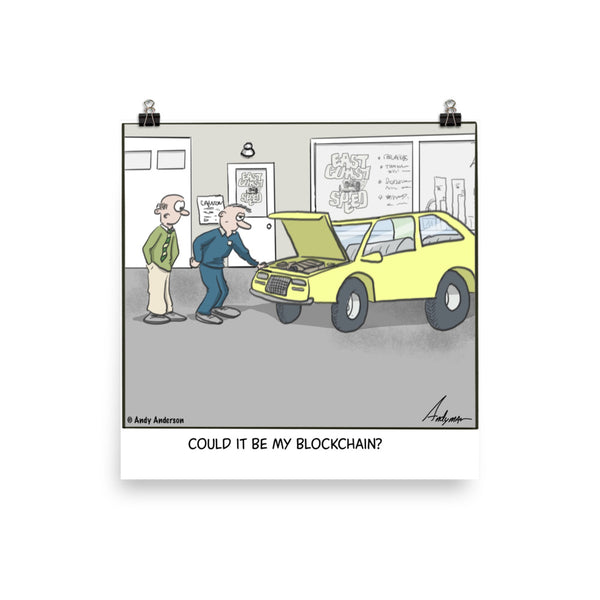 Could it be my blockchain cartoon print